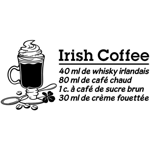 Adesivi Murali: Cocktail Irish Coffee - francese