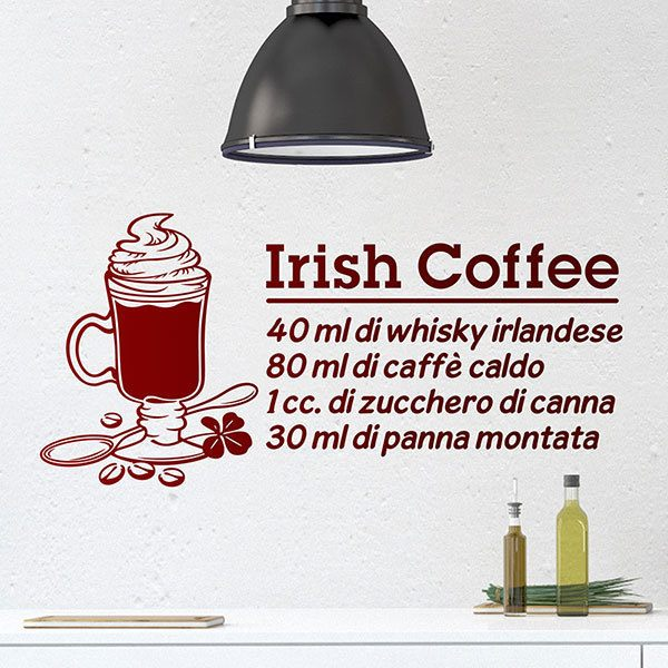 Adesivi Murali: Cocktail Irish Coffee - italiano