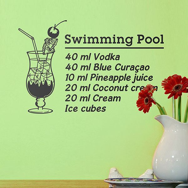 Adesivi Murali: Cocktail Swimming Pool - inglese