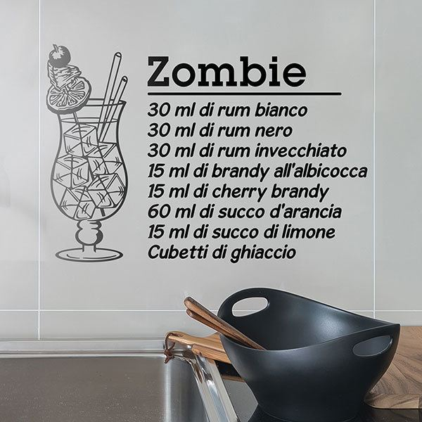 Adesivi Murali: Cocktail Zombie - italiano