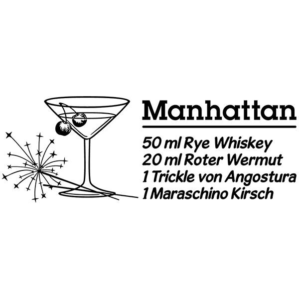 Adesivi Murali: Cocktail Manhattan - tedesco