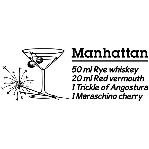 Adesivi Murali: Cocktail Manhattan - inglese