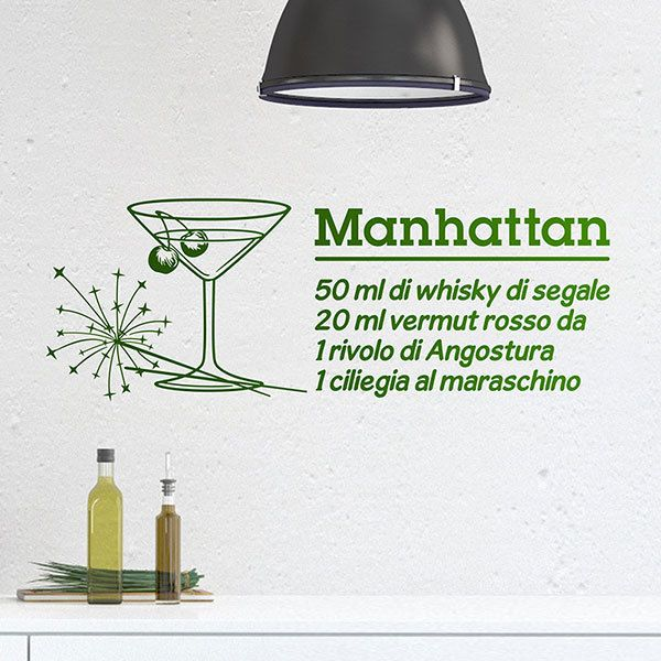 Adesivi Murali: Cocktail Manhattan - italiano