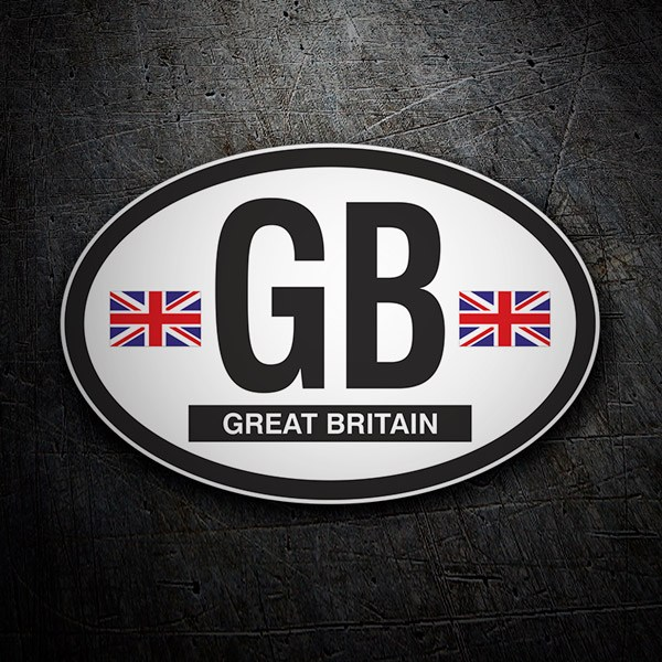 Adesivi per Auto e Moto: Oval Great Britain (Gran Bretagna) GB