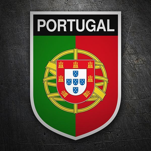 Adesivo Bandiera rettangolare Portogallo
