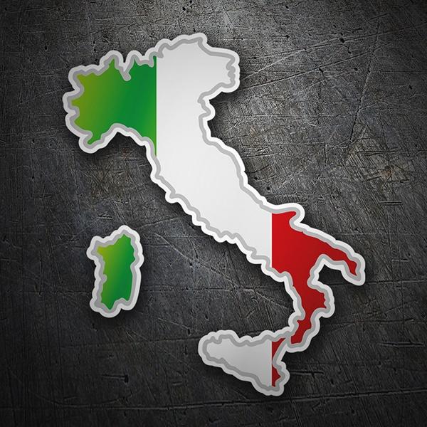 Adesivi per Auto e Moto: Mappa bandiera Italia