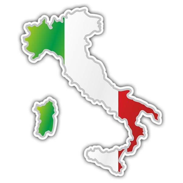 Cartina Italia Javascript.Adesivo Mappa Bandiera Italia Stickersmurali Com