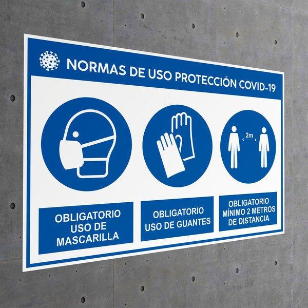 Adesivo regole di protezione dell'uso covid-19 ...