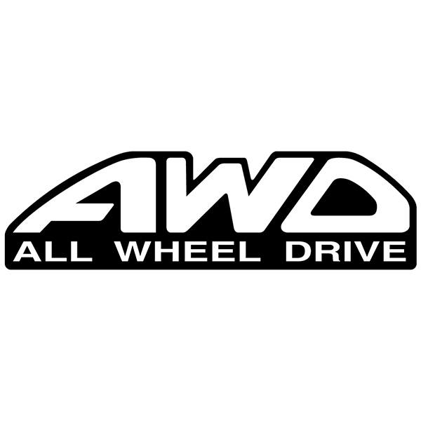 Adesivi per Auto e Moto: All wheel drive