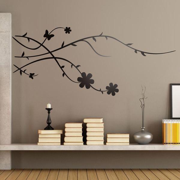 Filiale di albero floreale di brunia for Vinilos decorativos para recamaras