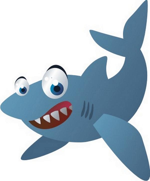 Adesivo murale bambini squalo for Disegno squalo per bambini