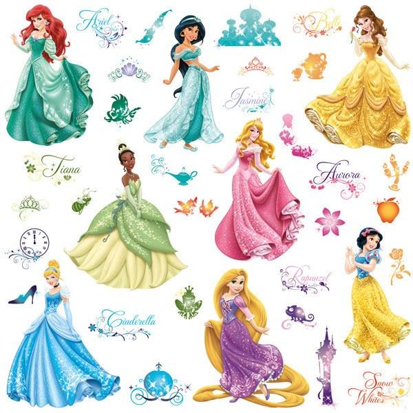 Adesivi Murali Principesse Disney.Adesivi Murali Principesse Disney Royal Debutto