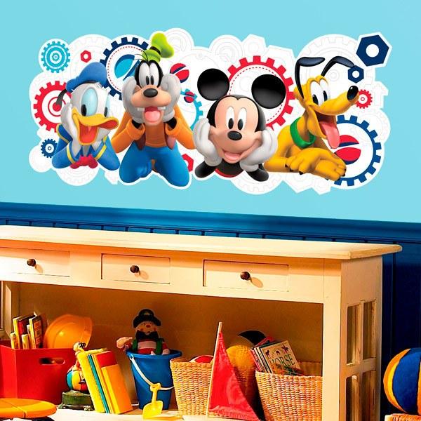 Adesivo murale bambini la casa di topolino e i suoi amici