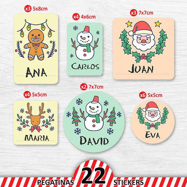 Adesivi Buon Natale.Kit Etichetta Personalizzata Buon Natale Stickersmurali Com