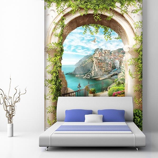 Trompe L Oeil Adesivi Murali.Fotomurali Di Trompe L Oeil