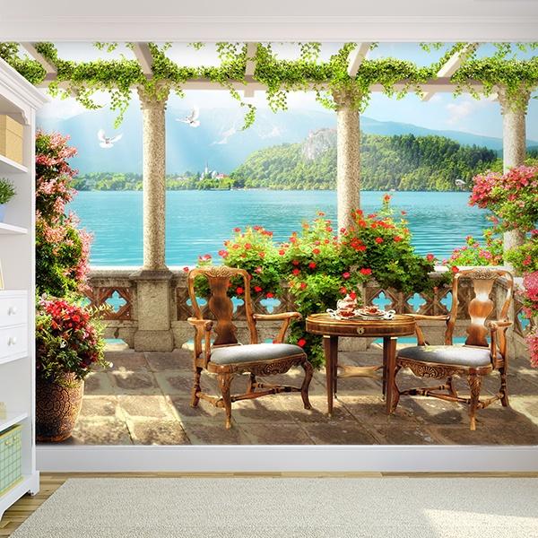 Adesivi Murali 3D Trompe l\'oeil di Terrazze   StickersMurali.com