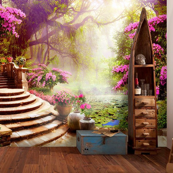 Fotomurali di paradisi - Giardino delle ninfee ...