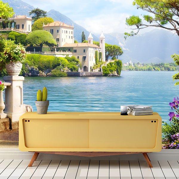 BIZHI Adesivi per porte stereo 3D adesivi murali di paesaggi ...