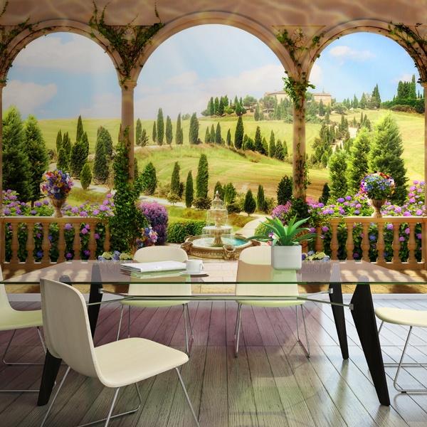 carta da parati di trompe l oeil. Black Bedroom Furniture Sets. Home Design Ideas