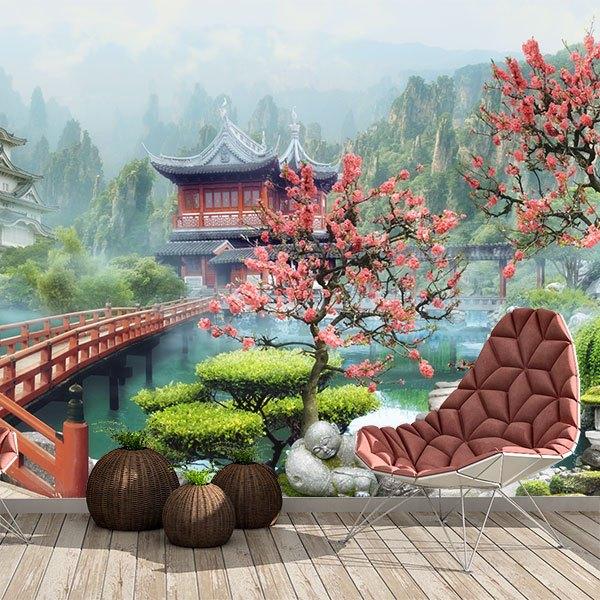 fotomurale paesaggio orientali. Black Bedroom Furniture Sets. Home Design Ideas