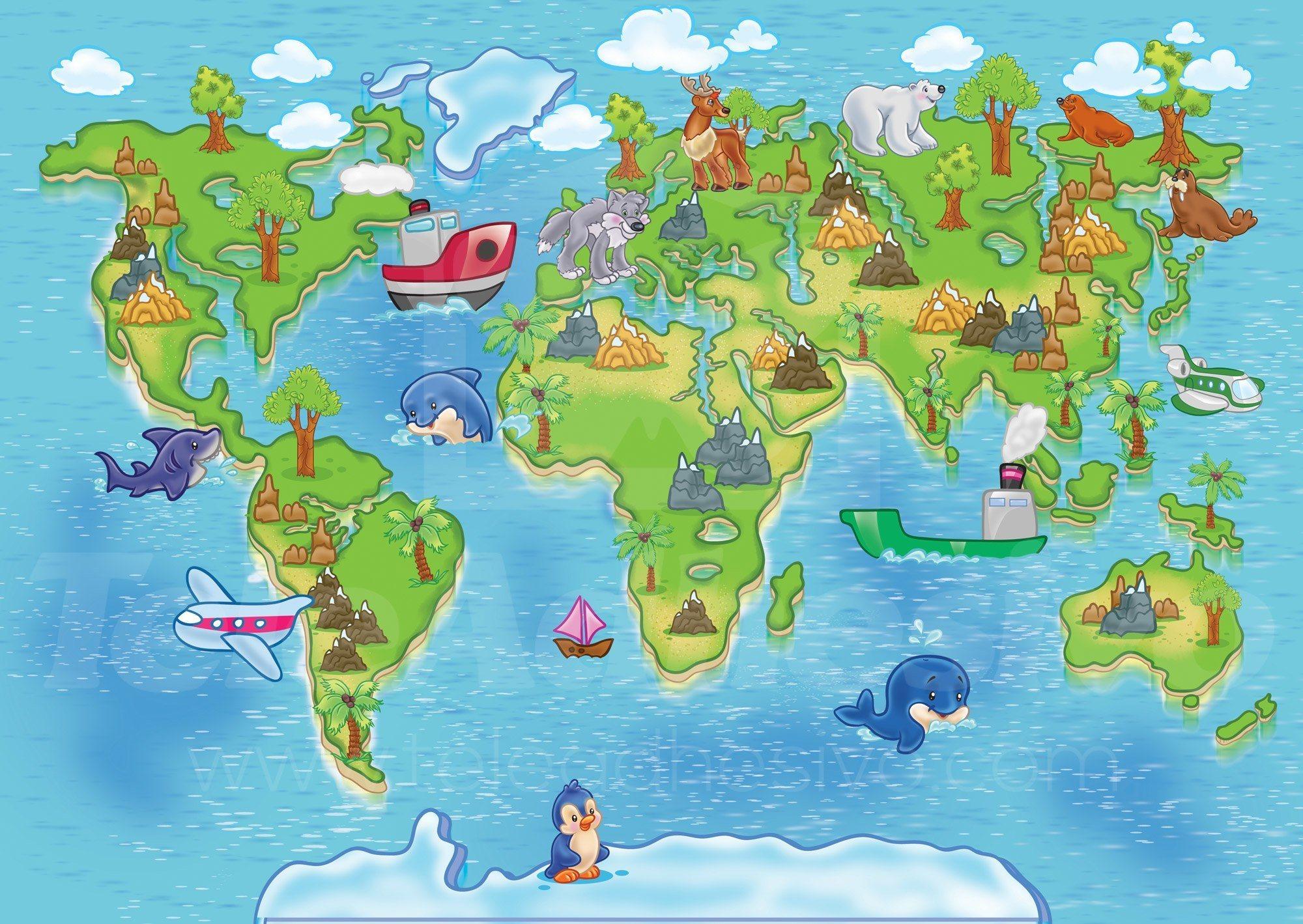 bambini mappa del mondo 3