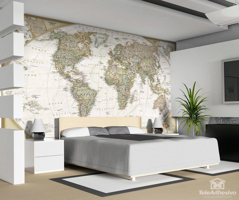 Politici mappa mondo for Carta parati mondo