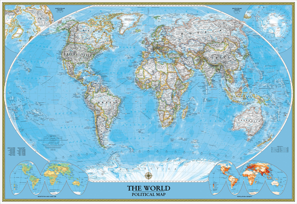 Fotomurali : World Polical Map