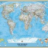 Fotomurali : World Polical Map 3