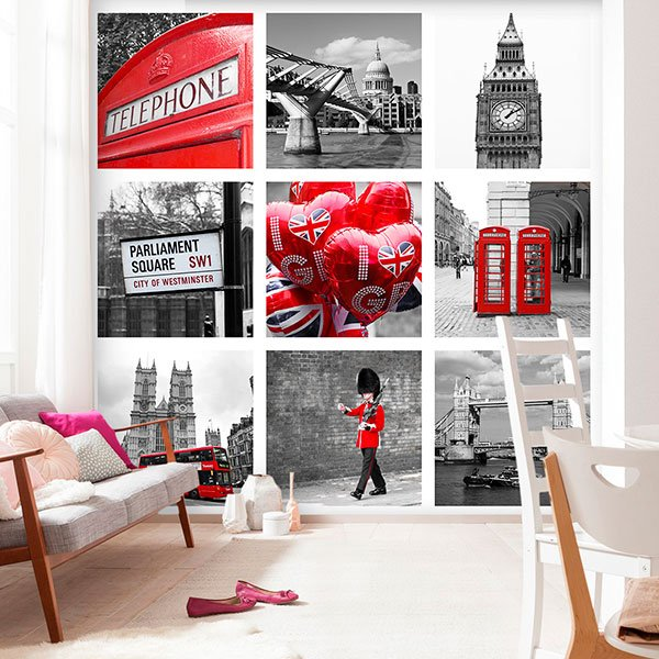 Fotomurali : Collage di Londra