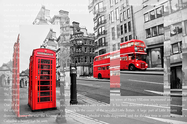 Fotomurali : Collage Londra