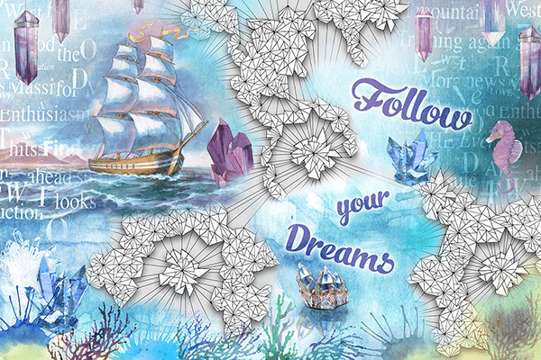 Fotomurali : Follow you dreams