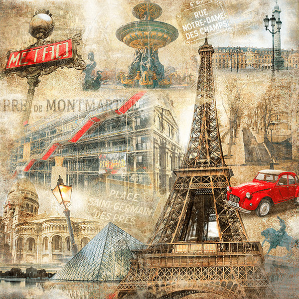 Fotomurali : Collage di Parigi