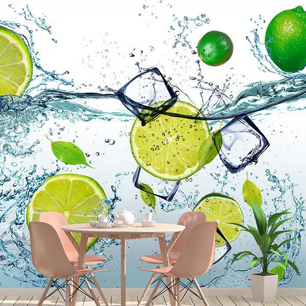 Fotomurali : Lime in acqua 0