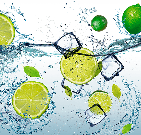 Fotomurali : Lime in acqua