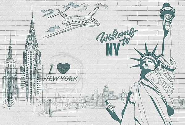 Fotomurali : I Love & Welcome to NY