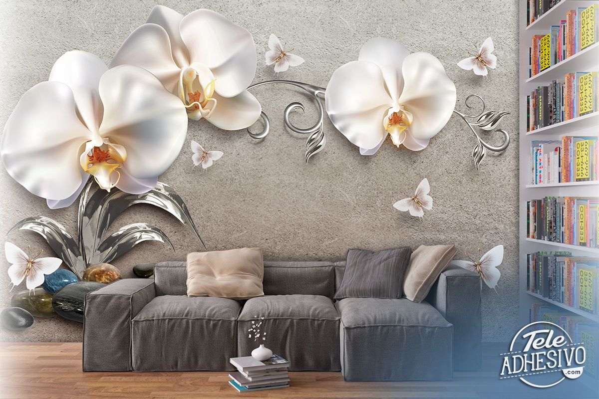 Fotomurali : Orchidee Bianche