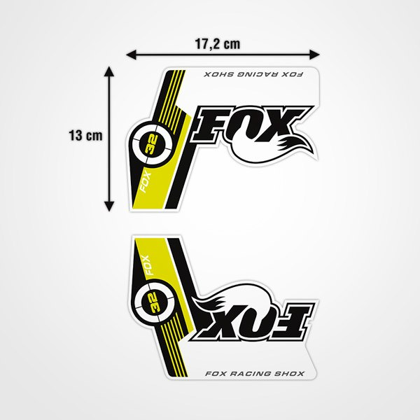 Adesivi per Auto e Moto: Kit forcella per bicicletta Fox Racing Shox