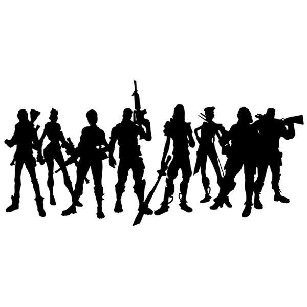 Adesivo Murale Giocatori Di Fortnite Stickersmuralicom