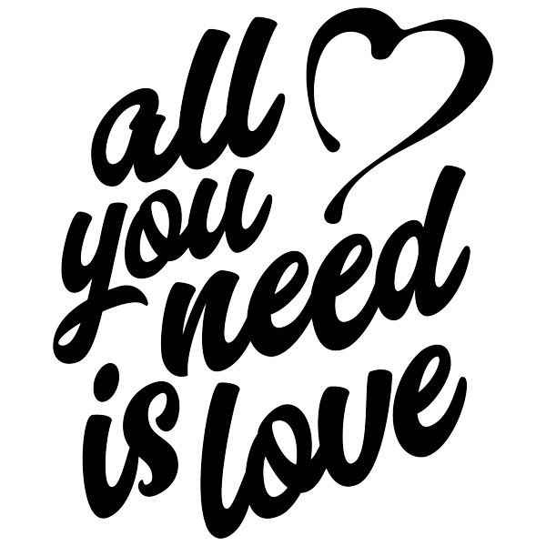 Adesivi Murali: All you need is love