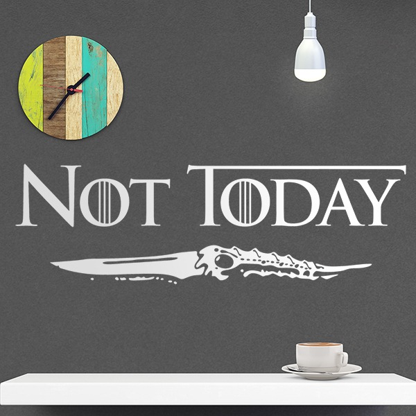 Adesivi Murali: Not today
