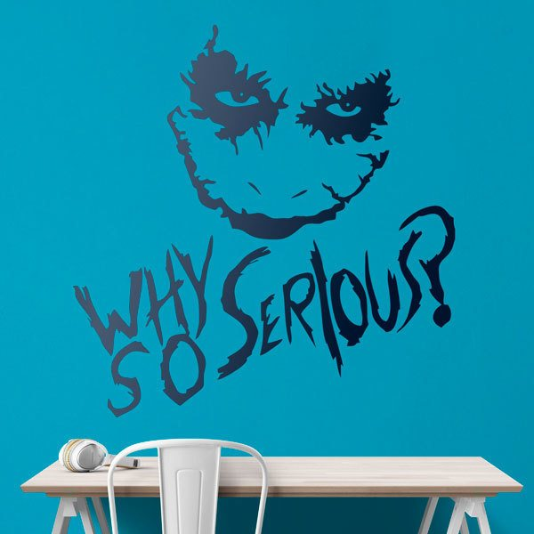 Adesivi Murali: Why so serious? (Joker, Batman)