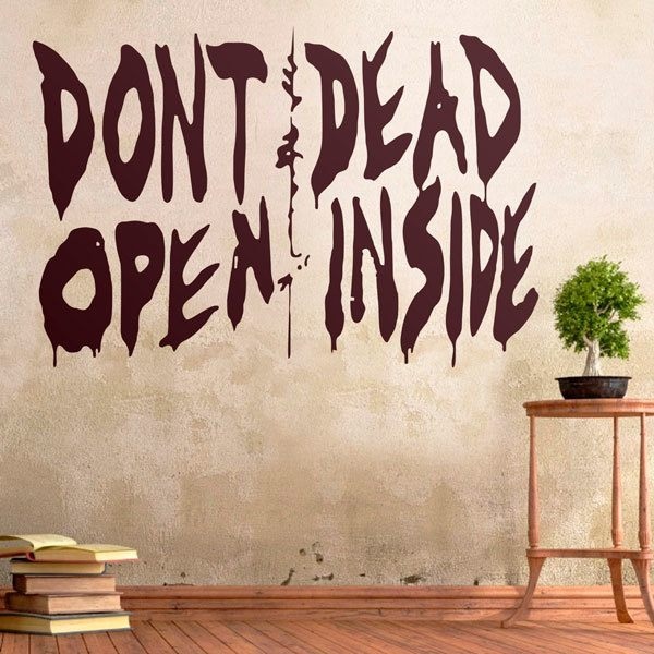 Adesivi Murali: Don't open, dead inside (Walking dead)