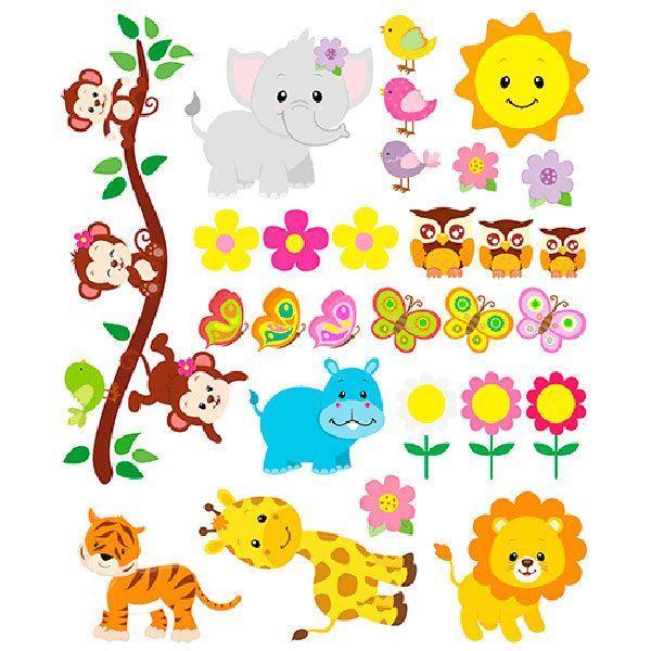 Adesivi Murali Per Bambini Disney.Adesivi Animali Per Bambini Mkishine Fogli Adesivi Animali Per