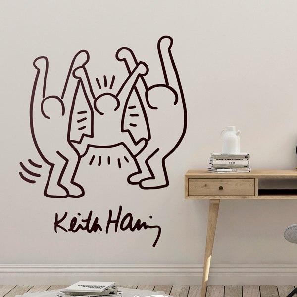 Adesivi Murali Keith Haring.Adesivo Murale Family Stickersmurali Com