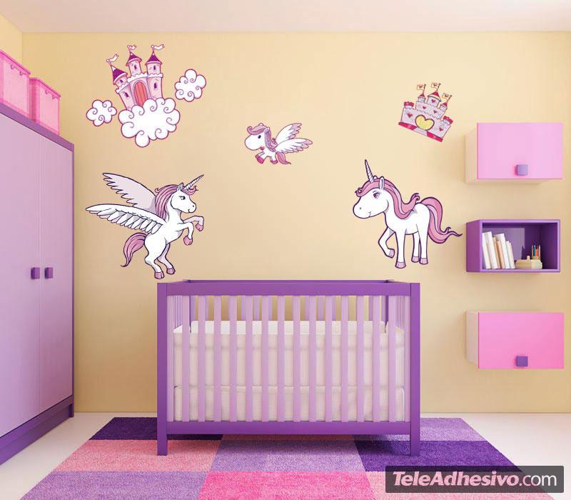 Adesivi murali bambina tutte le immagini per la progettazione di casa e le idee di mobili - Camerette per principesse ...