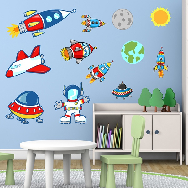 Adesivi per bambini spazio with stickers murali bambini - Adesivo albero ikea ...