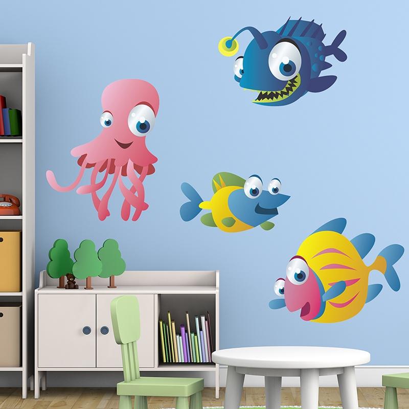 Adesivi per bambini acquario 10 for Aquarium im kinderzimmer