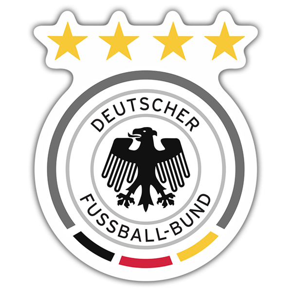 Adesivi per Auto e Moto: Germania - Calcio Shield