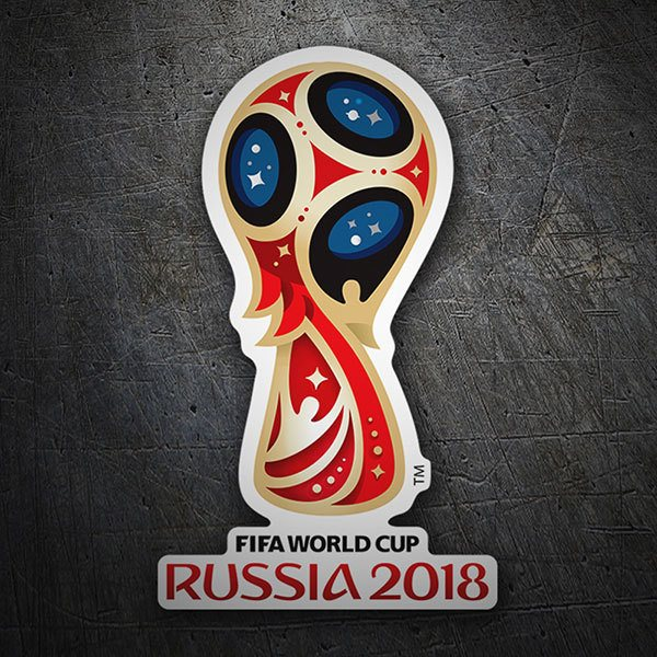 Adesivi per Auto e Moto: World football logo Russia 2018 1