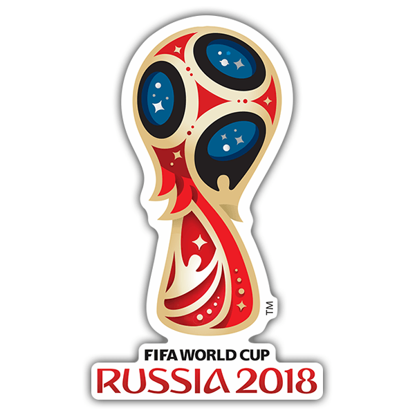 Adesivi per Auto e Moto: World football logo Russia 2018